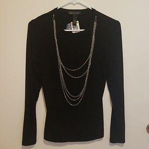 Black long sleeved INC blouse